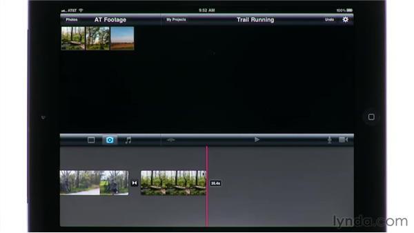 Adding photos: iMovie for iPad Essential Training