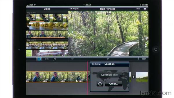 Adding titles: iMovie for iPad Essential Training