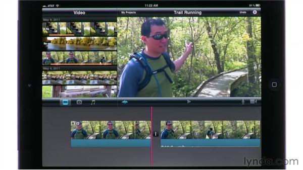 Adjusting clip audio levels: iMovie for iPad Essential Training
