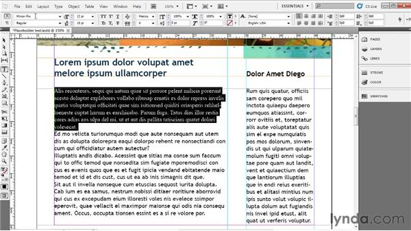 Formatting type: Up and Running with InDesign