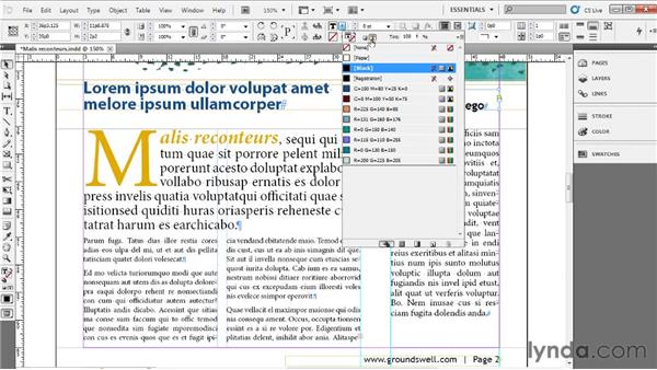 Coloring type: Up and Running with InDesign