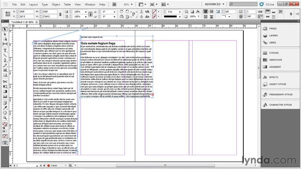 Placing and flowing text: Up and Running with InDesign