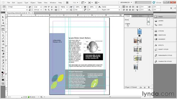 Using master pages: Up and Running with InDesign