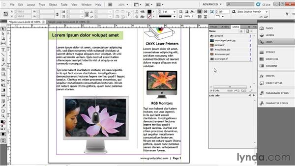Placing images: Up and Running with InDesign