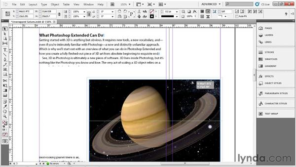Wrapping text around a graphic: Up and Running with InDesign