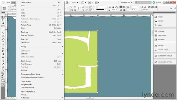 Making a quick logo: Up and Running with InDesign