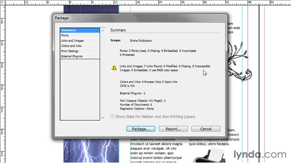 Preparing your document for printing: Up and Running with InDesign