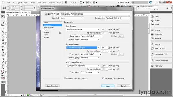 Exporting a PDF: Up and Running with InDesign