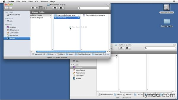 Using the exercise files: Migrating from Final Cut Pro 7 to Final Cut Pro X (2011)