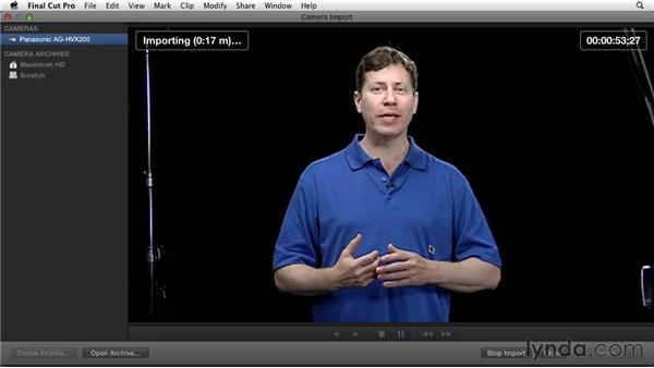 Importing video from a tape-based camera: Migrating from Final Cut Pro 7 to Final Cut Pro X (2011)