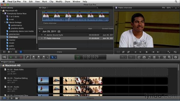 Viewing clips in the Event Library: Migrating from Final Cut Pro 7 to Final Cut Pro X (2011)