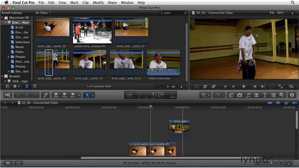 Editing B-roll with connected clips: Migrating from Final Cut Pro 7 to Final Cut Pro X (2011)