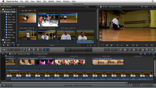 Creating compound clips as an alternative to nested sequences: Migrating from Final Cut Pro 7 to Final Cut Pro X (2011)