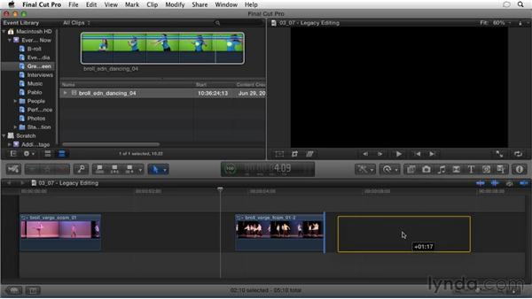 Legacy editing paradigms: Migrating from Final Cut Pro 7 to Final Cut Pro X (2011)