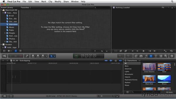 Using favorites to create subclips: Migrating from Final Cut Pro 7 to Final Cut Pro X (2011)