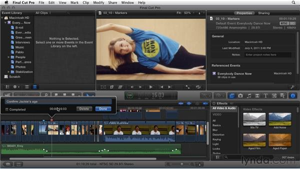 Using markers: Migrating from Final Cut Pro 7 to Final Cut Pro X (2011)