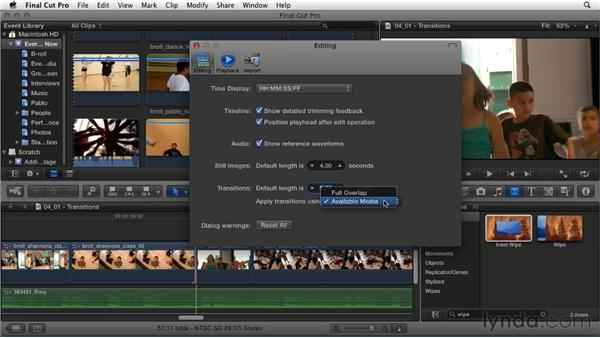 Adding and adjusting transitions: Migrating from Final Cut Pro 7 to Final Cut Pro X (2011)