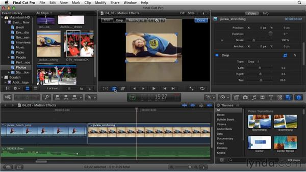Applying motion effects to clips: Migrating from Final Cut Pro 7 to Final Cut Pro X (2011)