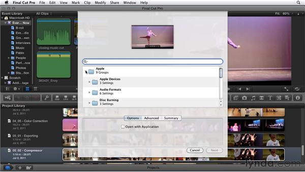 Advanced exporting using Compressor: Migrating from Final Cut Pro 7 to Final Cut Pro X (2011)