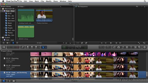 Collaboration and archiving: Migrating from Final Cut Pro 7 to Final Cut Pro X (2011)