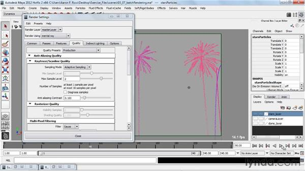 Batch rendering with multiple processors: Creating Particle and Fire Effects with Maya