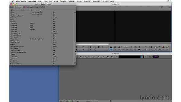 Exploring site, project, and user settings: Migrating from Final Cut Pro 7 to Avid Media Composer 5.5