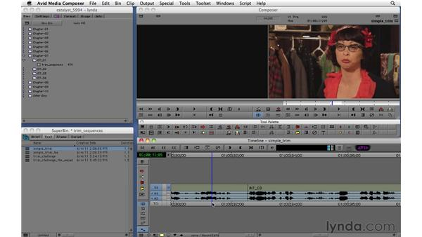 Using basic trim tools: Migrating from Final Cut Pro 7 to Avid Media Composer 5.5