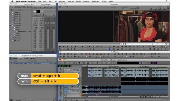 Using the Audio Mixer and audio keyframes: Migrating from Final Cut Pro 7 to Avid Media Composer 5.5