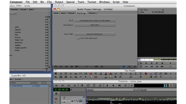 Importing audio and input settings: Migrating from Final Cut Pro 7 to Avid Media Composer 5.5