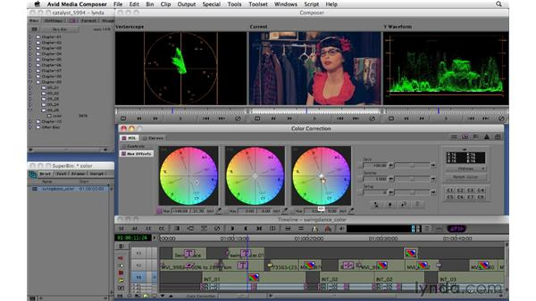 Using the color correction interface: Migrating from Final Cut Pro 7 to Avid Media Composer 5.5