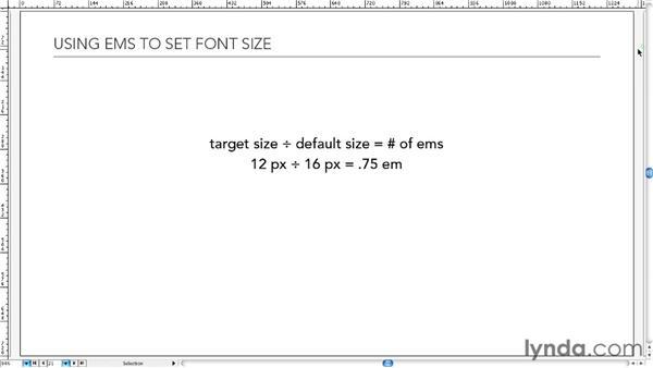 Understanding ems: Typography for Web Designers