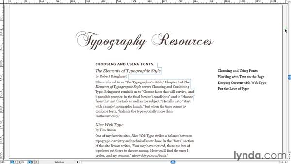 Designing typographic links for the traditional page: Typography for Web Designers