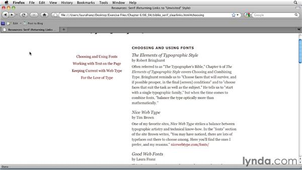 """Returning links to their original """"unvisited"""" style: Typography for Web Designers"""