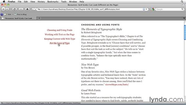 Using different CSS for different kinds of links: Typography for Web Designers