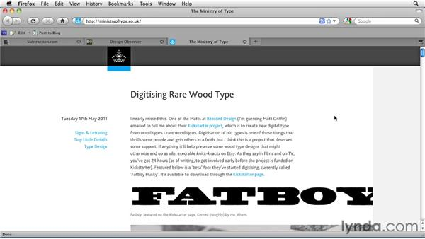 Analyzing the modernist typographic elements on the professional sites: Typography for Web Designers
