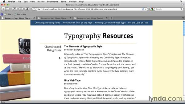 Fixing characters that don't look right: Typography for Web Designers