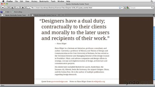 Vertically centering text: Typography for Web Designers