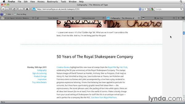 Analyzing the typographic details on the professional sites: Typography for Web Designers