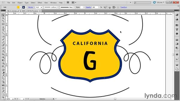 Applying fills and strokes: Up and Running with Illustrator