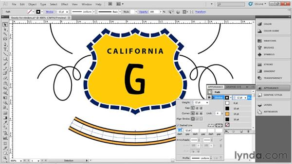 Working with specialty strokes: Up and Running with Illustrator