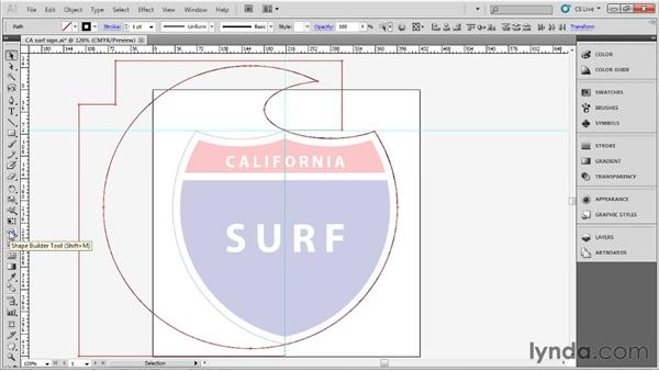 Combining paths: Up and Running with Illustrator