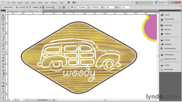 Selecting, grouping, and isolating: Up and Running with Illustrator