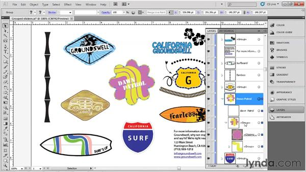 Organizing layers: Up and Running with Illustrator
