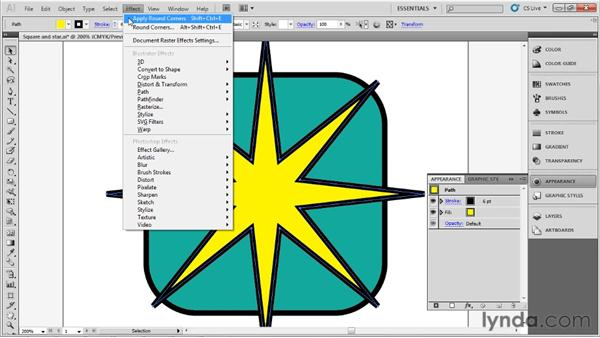 Rounding off corners: Up and Running with Illustrator