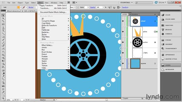 Using the Transform effect: Up and Running with Illustrator