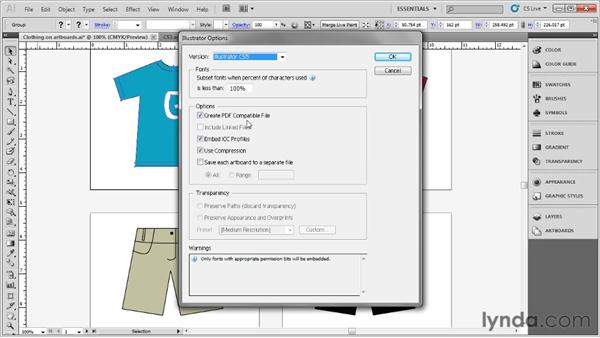 Saving your artwork: Up and Running with Illustrator