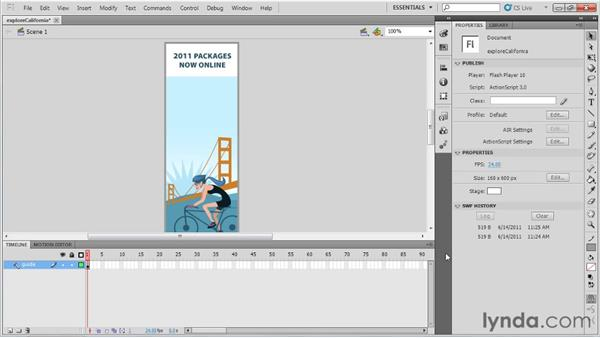 Creating a basic setup and using guide layers: Best Practices for Flash-based Banner Ads