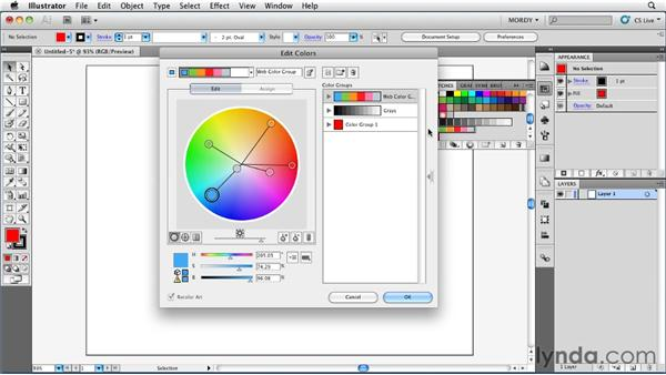 Working with color harmonies: Illustrator Insider Training: Coloring Artwork