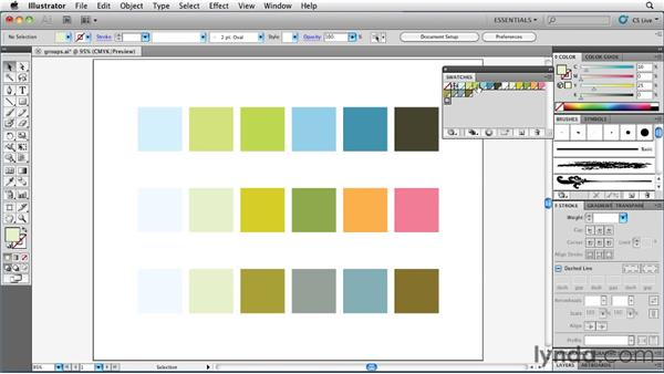 Organizing colors into groups: Illustrator Insider Training: Coloring Artwork