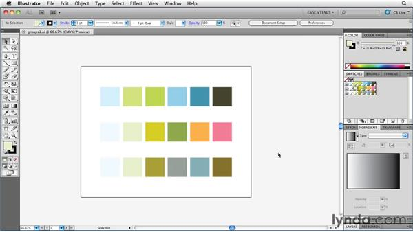 Creating and managing your own color libraries: Illustrator Insider Training: Coloring Artwork